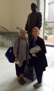 Friends of Coastal South Carolina board member Alys Campaigne (left) with National Wildlife Refuge Association Vice-President of Government Affairs Desiree Sorenson-Groves (right) in Washington, DC.