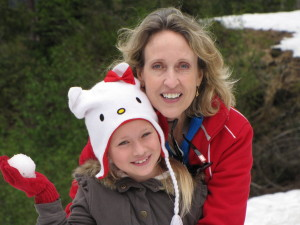 Eva with her granddaughter in Alaska.