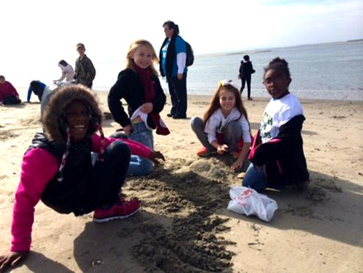 For the third year our partnership with Coastal Expeditions allowed us to offer a field studies trip to Bulls Island as part of our Earth Stewards program. Students from Kensington Elementary in Georgetown modeled their own barrier islands in the sand, including the maritime forest!